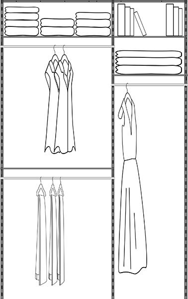 60in Closet Kit